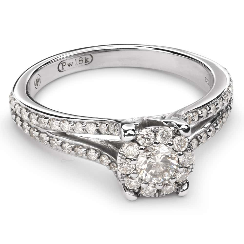 """Engagment ring with brilliants """"Bouquet of diamonds 31"""""""