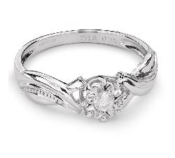 """Auksinis žiedas su Briliantu """"Mylimasis 52"""""""