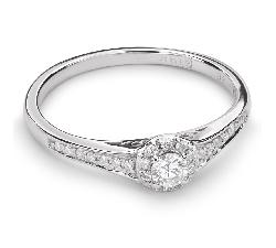 """Auksinis žiedas su Briliantais """"Briliantų Puokštė 32"""""""