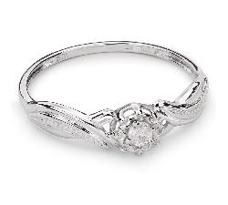 """Auksinis žiedas su Briliantu """"Mylimasis 54"""""""