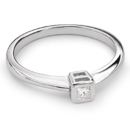 """Auksinis žiedas su Briliantu """"Apglėbtoji 24"""""""