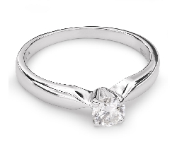 "Auksinis žiedas su Briliantu ""Elegancija 19"""