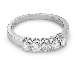"""Auksinis žiedas su Briliantais """"Deimantinė Juostelė 6"""""""