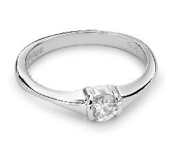 """Auksinis žiedas su Briliantu """"Tvirtybė 82"""""""