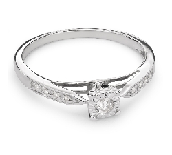 """Auksinis žiedas su Briliantais """"Mylimasis 58"""""""