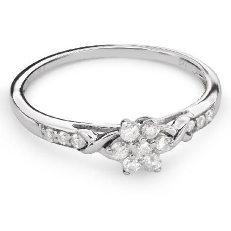 """Auksinis žiedas su Briliantais """"Briliantinė Gėlė 27"""""""