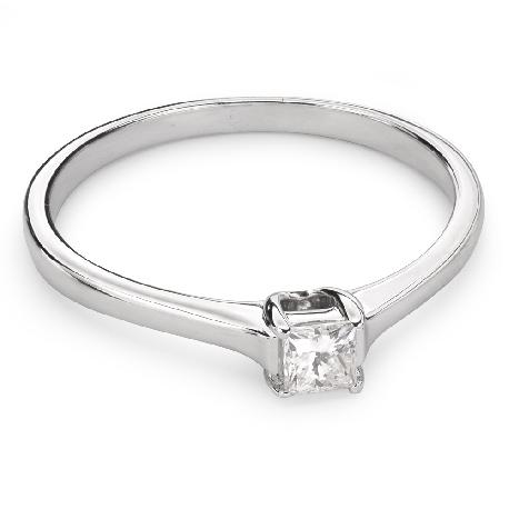 """Auksinis žiedas su Deimantu """"Princesė 46"""""""