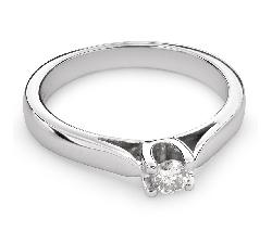 "Gold ring with brilliant diamond ""Goddess 73"""