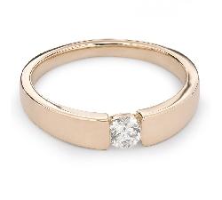 """Auksinis žiedas su Briliantu """"Tarp Uolų 11"""""""