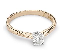 "Auksinis žiedas su Briliantu ""Elegancija 21"""