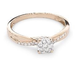 """Auksinis žiedas su Briliantais """"Mylimasis 59"""""""