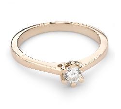 """Auksinis žiedas su Briliantu """"Širdies Karalienė 22"""""""