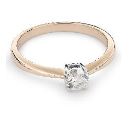 """Auksinis žiedas su Briliantu """"Tvirtybė 83"""""""