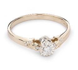 """Auksinis žiedas su Briliantu """"Mylimasis 60"""""""