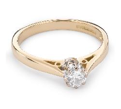 """Auksinis žiedas su Briliantu """"Vienintelė 75"""""""