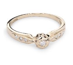 """Auksinis žiedas su Briliantais """"Mylimasis 63"""""""