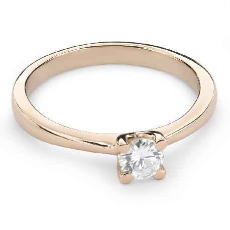"""Auksinis žiedas su Briliantu """"Dievaitė 74"""""""