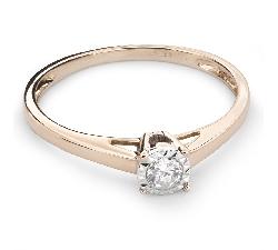 """Auksinis žiedas su Briliantu """"Mylimasis 64"""""""