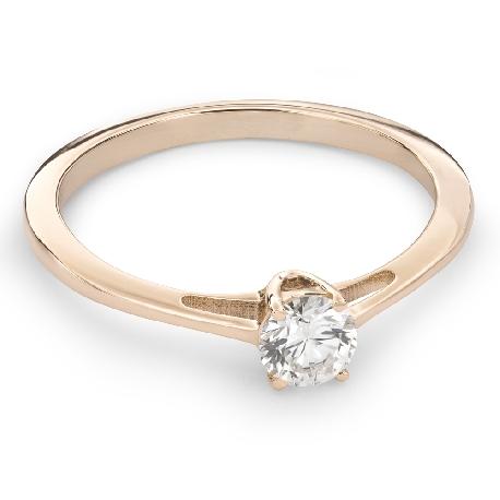"""Auksinis žiedas su Briliantu """"Dievaitė 75"""""""