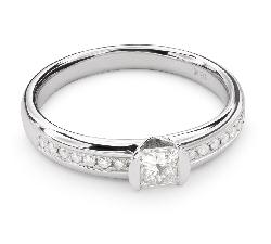 """Auksinis žiedas su Deimantais """"Princesė 47"""""""