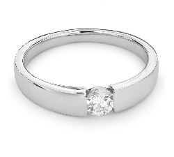 """Auksinis žiedas su Briliantu """"Tarp Uolų 12"""""""