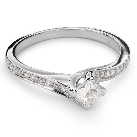 """Auksinis žiedas su Deimantais """"Princesė 48"""""""
