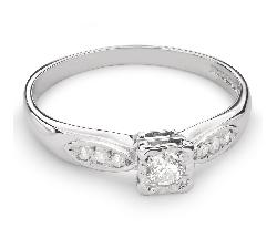 """Auksinis žiedas su Deimantais """"Mylimasis 66"""""""
