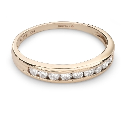 "Gold ring with brilliants ""Diamond strip 38"""