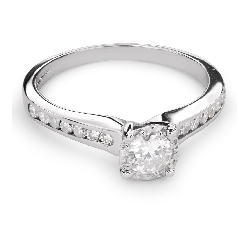 """Engagment ring with brilliants """"Grace 87"""""""