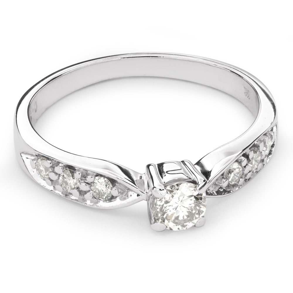 """Engagment ring with brilliants """"Grace 89"""""""