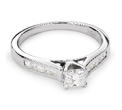 "Engagement ring with diamonds ""Princess 50"""