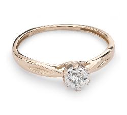 """Auksinis žiedas su Briliantu """"Mylimasis 74"""""""