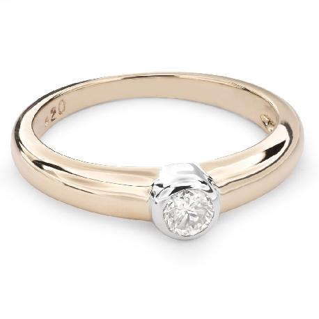 """Auksinis žiedas su Briliantu """"Tarp Uolų 14"""""""