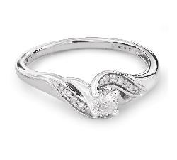 """Auksinis žiedas su Briliantais """"Gyvybe 26"""""""