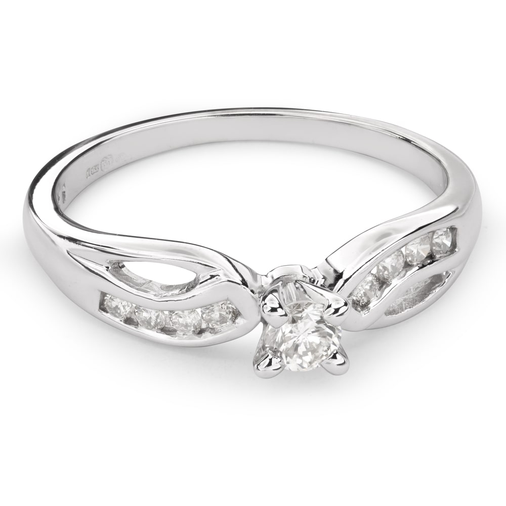 """Engagment ring with brilliants """"Grace 94"""""""