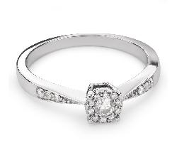 """Auksinis žiedas su Briliantais """"Mylimasis 79"""""""