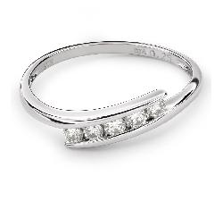 """Auksinis žiedas su briliantais """"Tarp uolų 15"""""""