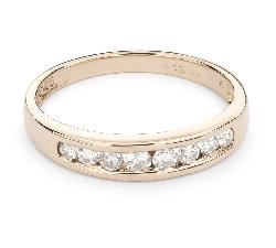 """Auksinis žiedas su Deimantais """"Deimantinė juostelė 45"""""""