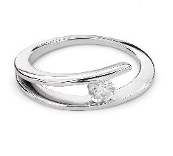 """Auksinis žiedas su briliantu """"Susipynę likimai 30"""""""