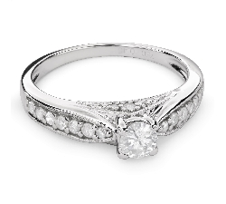 """Engagment ring with brilliants """"Grace 96"""""""