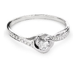 "Engagment ring with brilliants ""Hurricanes 19"""