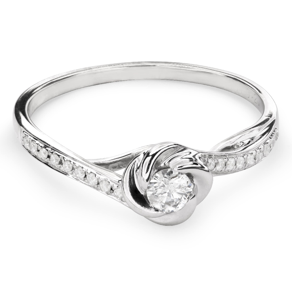 """Engagment ring with brilliants """"Hurricanes 19"""""""
