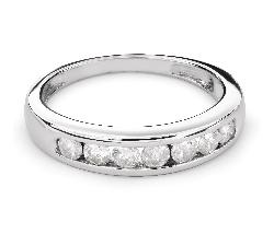 """Auksinis žiedas su Briliantais """"Deimantinė juostelė 45"""""""
