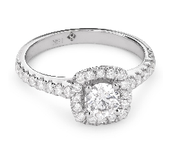 "Engagment ring with brilliants ""Bouquet of diamonds 37"""