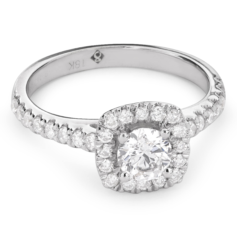 """Engagment ring with brilliants """"Bouquet of diamonds 37"""""""