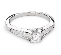 """Auksinis žiedas su Briliantais """"Grakštumas 99"""""""