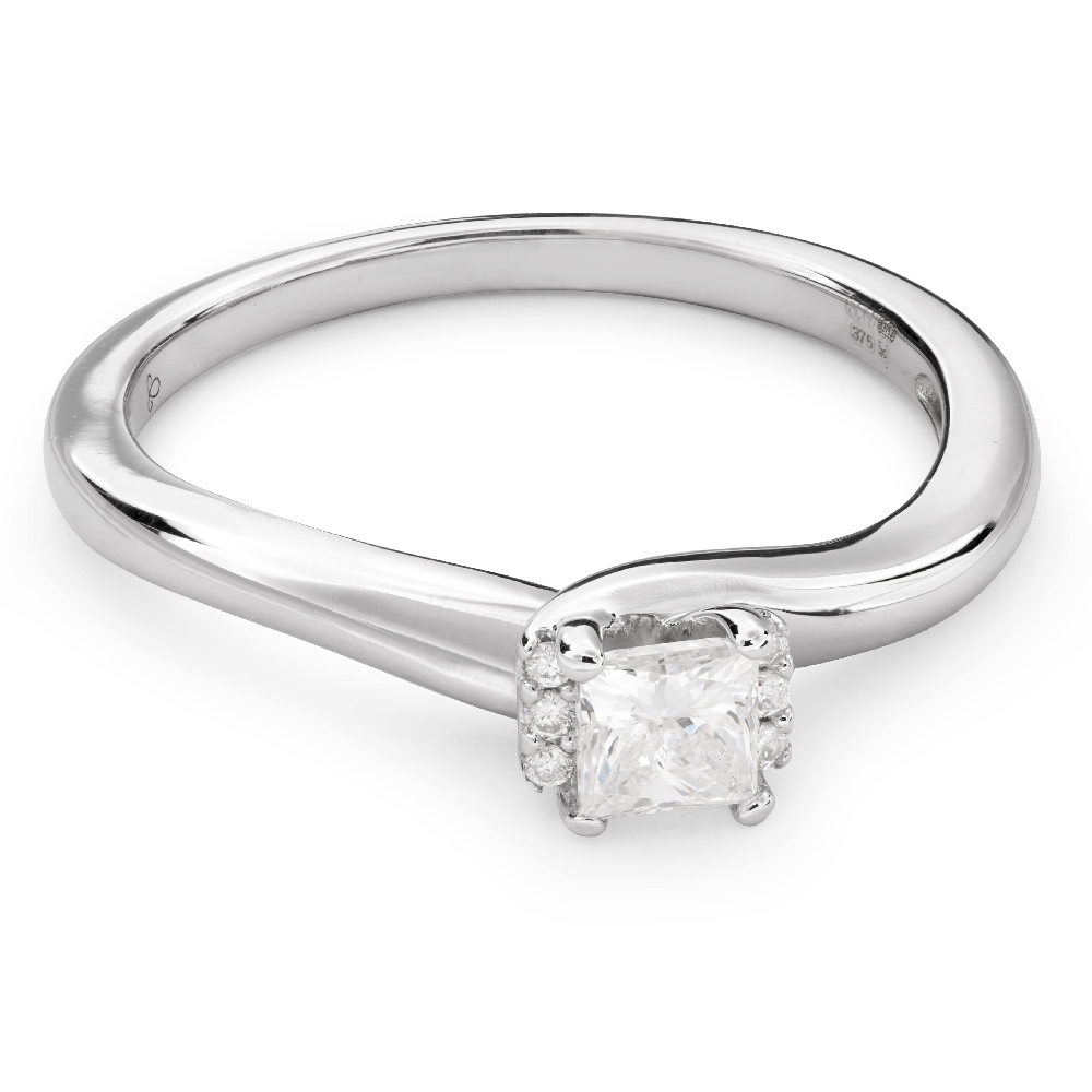 """Engagement ring with diamonds """"Princess 53"""""""