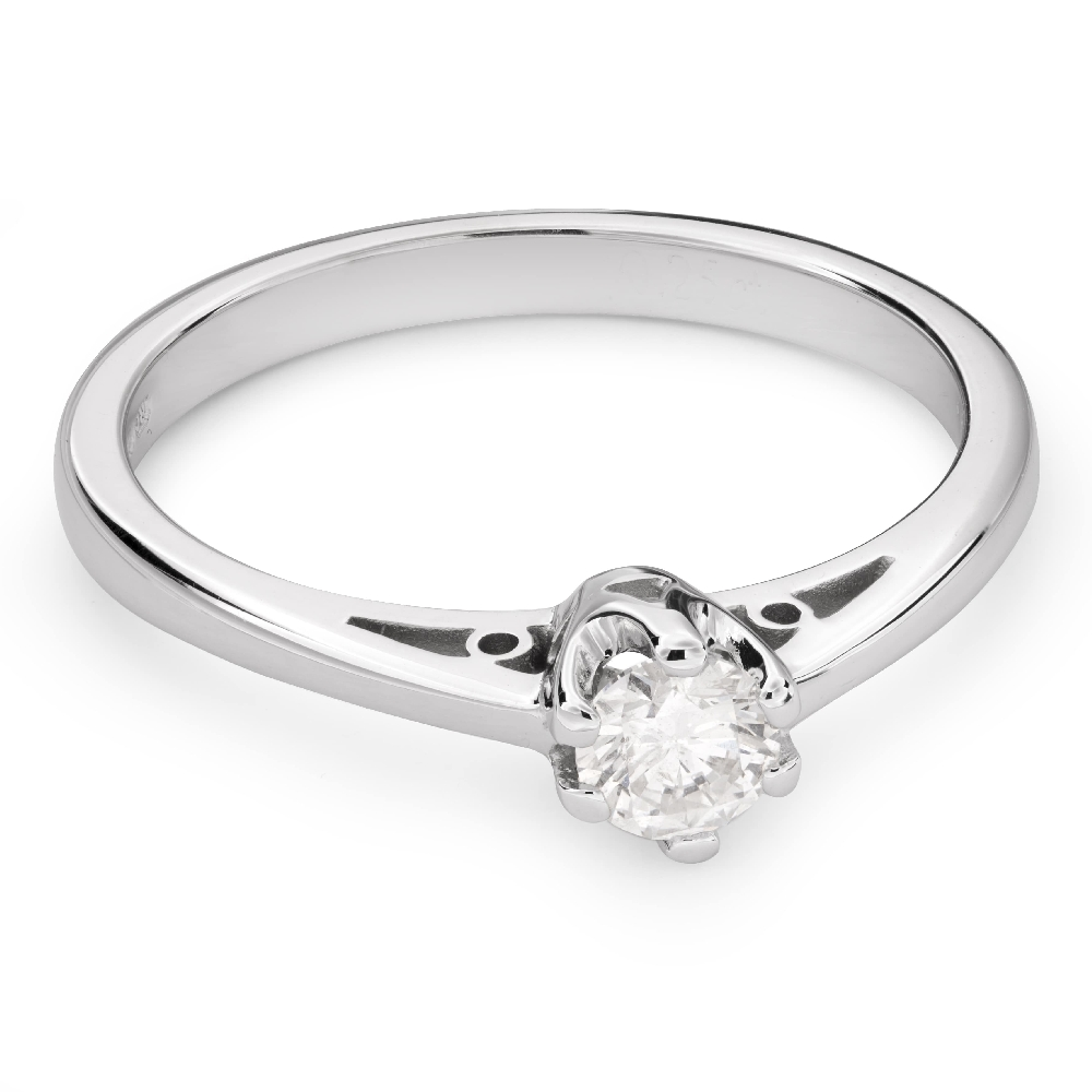 """Engagement ring with brilliant """"The only one 80"""""""