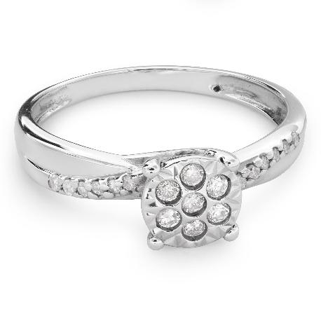 """Auksinis žiedas su briliantais """"Mylimasis 87"""""""