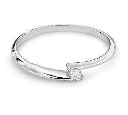 """Auksinis žiedas su Briliantu """"Meilės Glėbyje 30"""""""